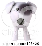 Royalty Free RF Clipart Illustration Of A 3d Bull Terrier Dog Facing Front by Julos
