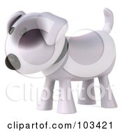 Royalty Free RF Clipart Illustration Of A 3d Bull Terrier Dog Facing Left by Julos