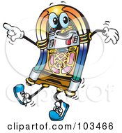 Royalty Free RF Clipart Illustration Of A Happy Juke Box Dancing