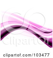 Royalty Free RF Clipart Illustration Of An Abstract Pink Wave On White Background