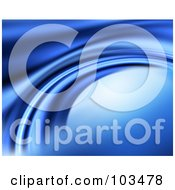 Royalty Free RF Clipart Illustration Of A Smooth Blue Flowing Curved Water Background