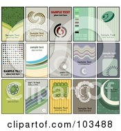 Royalty Free RF Clipart Illustration Of A Digital Collage Of 15 Retro Styled Businses Card Designs