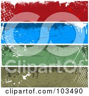 Royalty Free RF Clipart Illustration Of A Digital Collage Of Four Colorful Horizontal Grungy Website Banners by KJ Pargeter