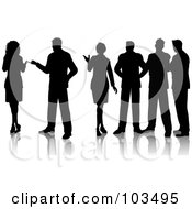 Royalty Free RF Clipart Illustration Of A Group Of Professionals Standing And Talking