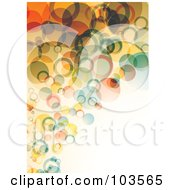 Royalty Free RF Clipart Illustration Of A Background Of Colorful Floating Bubbles Over Off White by michaeltravers