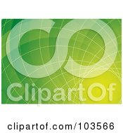 Royalty Free RF Clipart Illustration Of A Green Background With Spiral Lines by michaeltravers