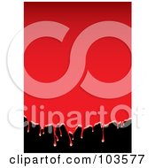 Royalty Free RF Clipart Illustration Of A Background Of Dripping Red Blood Over Black by michaeltravers