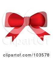 Royalty Free RF Clipart Illustration Of A Deep Red Bow