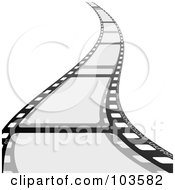 Royalty Free RF Clipart Illustration Of A Film Strip Curving Forward by michaeltravers