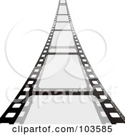 Royalty Free RF Clipart Illustration Of A Film Strip Leading Forward by michaeltravers