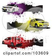 Royalty Free RF Clipart Illustration Of A Digital Collage Of Six Grungy Automobile Banners 1 by leonid
