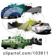 Royalty Free RF Clipart Illustration Of A Digital Collage Of Six Grungy Automobile Banners 2