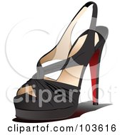 Royalty Free RF Clipart Illustration Of A Black High Heel