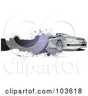 Royalty Free RF Clipart Illustration Of A Grungy Convertible Car Banner 1 by leonid