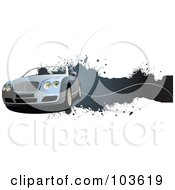 Royalty Free RF Clipart Illustration Of A Grungy Convertible Car Banner 2 by leonid