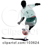 Royalty Free RF Clipart Illustration Of A Faceless Soccer Player And Ball 4 by leonid