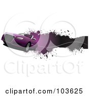 Royalty Free RF Clipart Illustration Of A Grungy Convertible Car Banner 3 by leonid