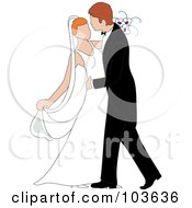 Royalty Free RF Clipart Illustration Of An Irish Newlywed Couple Dancing At Their Wedding by Pams Clipart