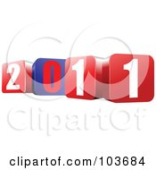 Royalty Free RF Clipart Illustration Of Red Blue And White 2011 Blocks by leonid
