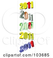 Royalty Free RF Clipart Illustration Of A Digital Collage Of 2011 by leonid