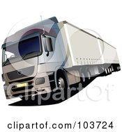Royalty Free RF Clipart Illustration Of A Big Rig Truck 1 by leonid
