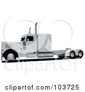Royalty Free RF Clipart Illustration Of A Big Rig Truck 3 by leonid