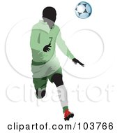 Royalty Free RF Clipart Illustration Of A Faceless Soccer Player And Ball 3 by leonid