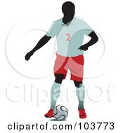 Faceless Soccer Player And Ball 1 by leonid