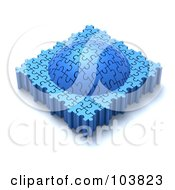 Royalty Free RF Clipart Illustration Of A 3d Dome Made Of Puzzle Pieces