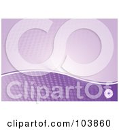 Royalty Free RF Clipart Illustration Of A Purple Wave And Halftone Background