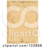 Royalty Free RF Clipart Illustration Of A Grungy Old Parchment Paper Background With Top And Bottom Rules