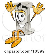 Clipart Picture Of A Pillar Mascot Cartoon Character Jumping by Toons4Biz