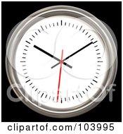 3d Chrome Rimmed Analog Wall Clock