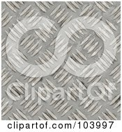 Seamless Diamond Plate Background With Deep Scratches