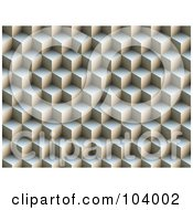 Royalty Free RF Clipart Illustration Of A 3d Background Of Stacked Cubes