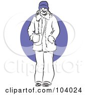 Royalty Free RF Clipart Illustration Of A Woman In A Coat by Prawny