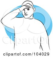 Royalty Free RF Clipart Illustration Of A Man Touching His Head