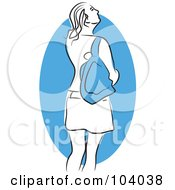 Royalty Free RF Clipart Illustration Of A Woman With A Purse by Prawny