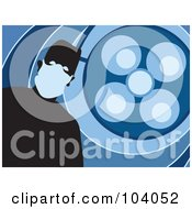 Royalty Free RF Clipart Illustration Of A Silhouetted Surgeon Over Blue by Prawny