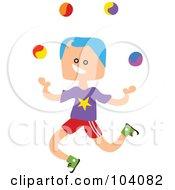 Square Head Boy Juggling
