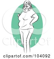 Royalty Free RF Clipart Illustration Of A Chubby Woman Standing