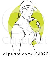 Royalty Free RF Clipart Illustration Of A Woman Drinking
