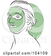 Royalty Free RF Clipart Illustration Of A Woman Wearing A Green Face Mask by Prawny