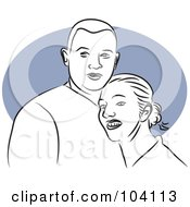 Royalty Free RF Clipart Illustration Of A Happy Couple 1