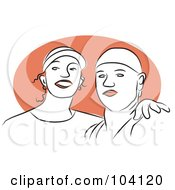 Royalty Free RF Clipart Illustration Of A Happy Couple 3