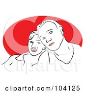 Royalty Free RF Clipart Illustration Of A Happy Couple 4