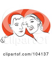 Royalty Free RF Clipart Illustration Of A Happy Couple 2