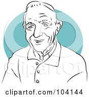 Royalty Free RF Clipart Illustration Of A Happy Old Man