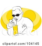 Royalty Free RF Clipart Illustration Of A Man Drinking A Cocktail by Prawny