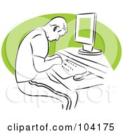 Royalty Free RF Clipart Illustration Of A Man Typing by Prawny